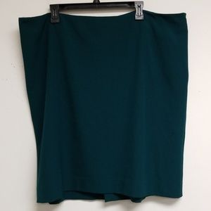 MM Lafleur Dark Pine Pencil Skirt Size 3X